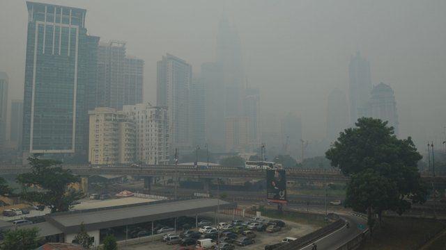 Smog in Kuala Lumpur