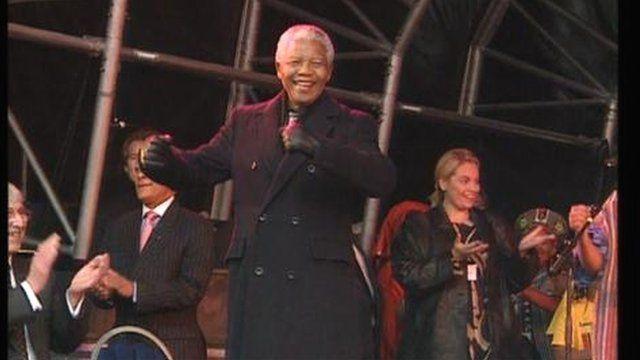 Nelson Mandela in Leeds