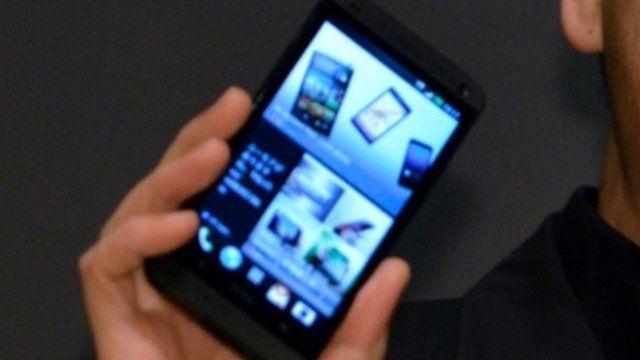 HTC phone on sale in KDDI shops