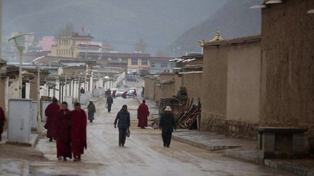 Some of the so-called 'socialist villages' in Tibet