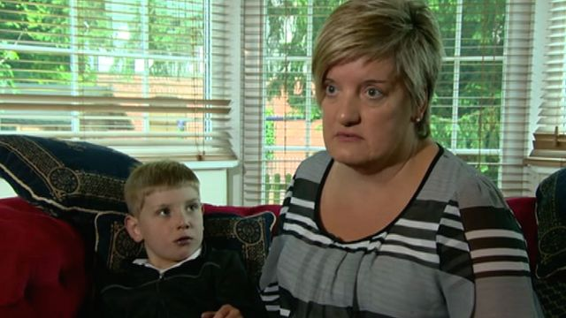 Emma Harrison and her son Oliver