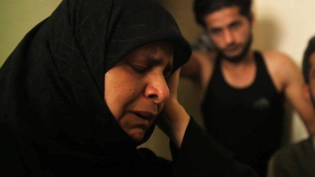 Mohammed Qataa's mother