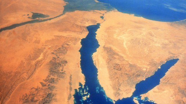 Suez canal from the air