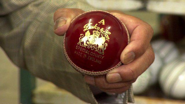 Ashes cricket ball