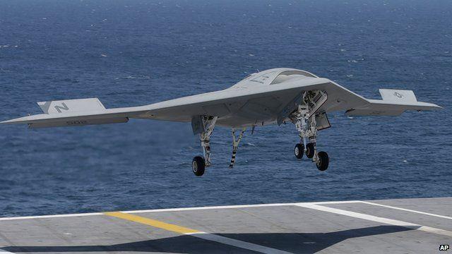 US Navy's X-47B drone
