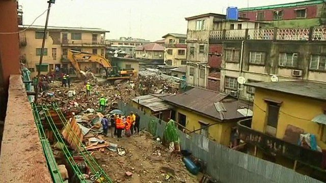 The neighbourhood where the building collapsed