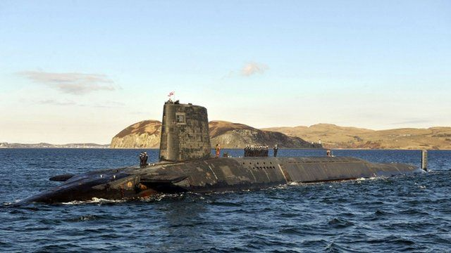 Trident nuclear submarine HMS Victorious