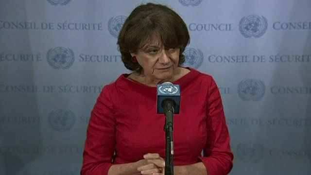 US ambassador to the United Nations Rosemary DiCarlo