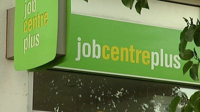 Sign outside job centre
