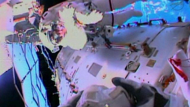 Spacewalk at the International Space Station (ISS)