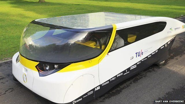 Solar-powered cars - still courtesy of Bart Van Overbeeke