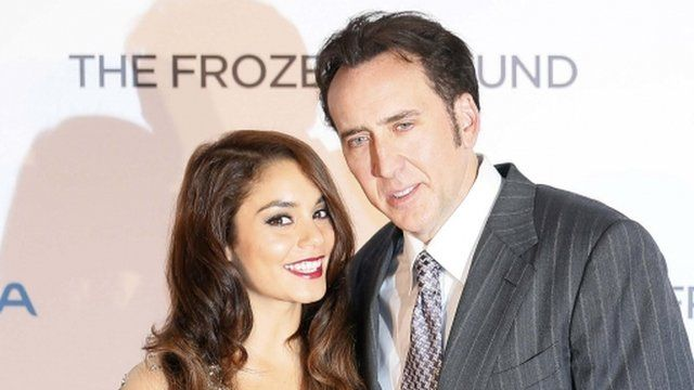 Nicolas Cage and Vanessa Hudgen