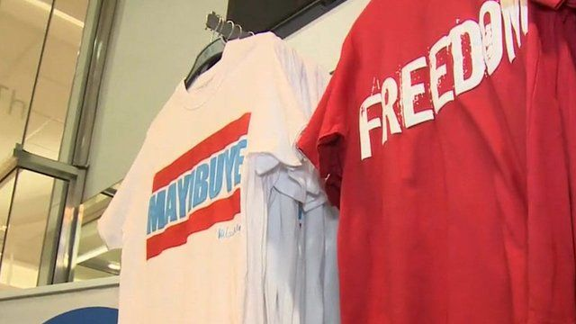 T-shifts from Mandela clothing range