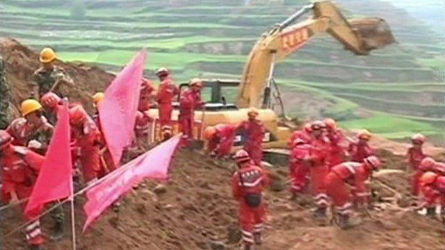 Rescue teams at work