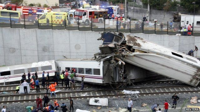 Derailed carriages