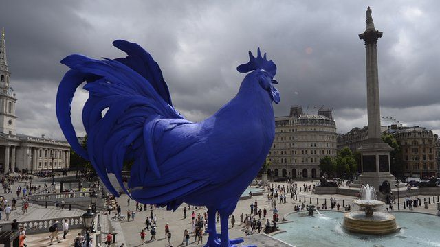 The Fourth Plinth's blue cockerel