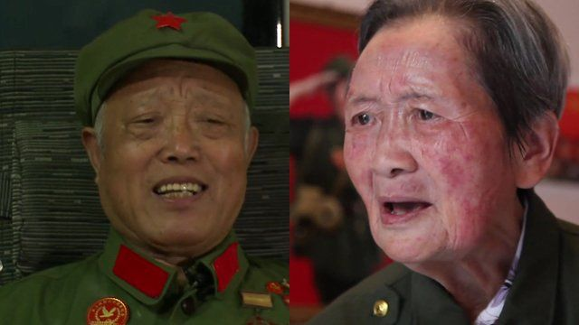 Two Chinese veterans of the Korean War