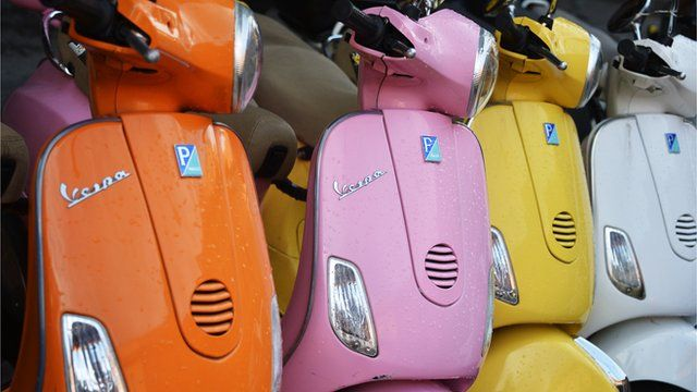 Vespa bikes