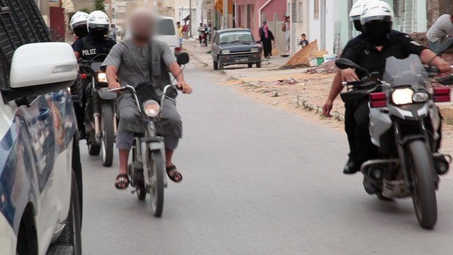 Police detaining suspected Salafist
