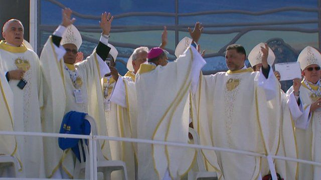 Clergy dance in Rio