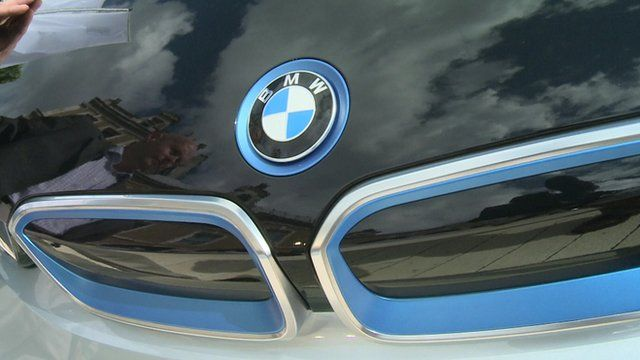 Bonnet of BMW electric car