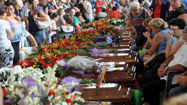 Mass funeral in Italy