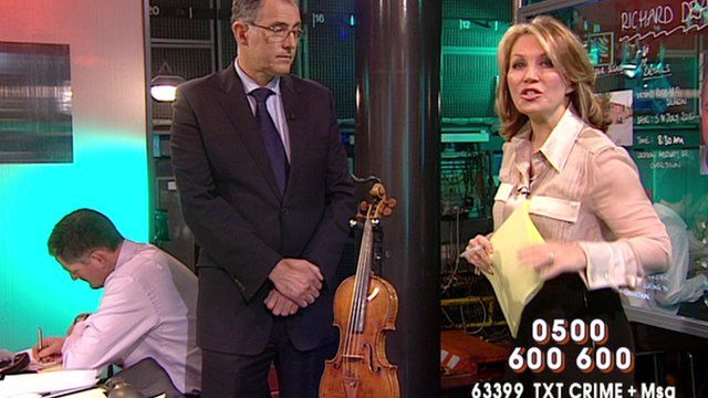 Kirsty Young presenting Crimewatch in 2010