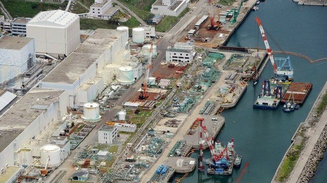 Aerial photo taken on 9 July 2013 of the Fukushima Dai-ichi nuclear power plant in Okuama, Fukushima prefecture, northern Japan