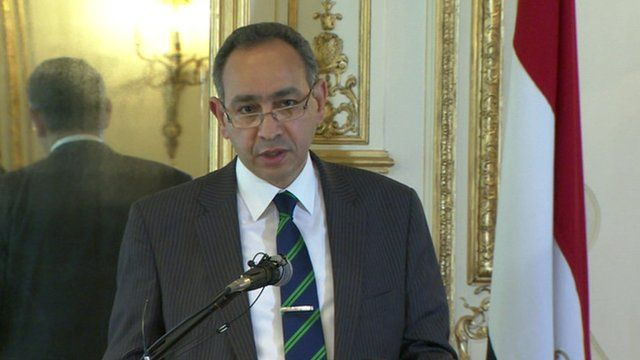 Egypt's ambassador to London Ashraf El Kholy