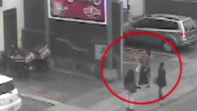 CCTV shows one of two women in the days before their arrest in Peru