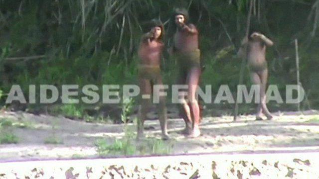 Mashco-Piro tribe members