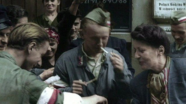 Scene from the film Warsaw Rising