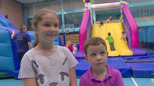 Children in Belfast