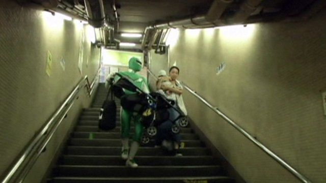 The subway superhero