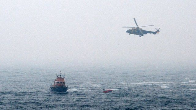 Rescue Helicopter and a lifeboat
