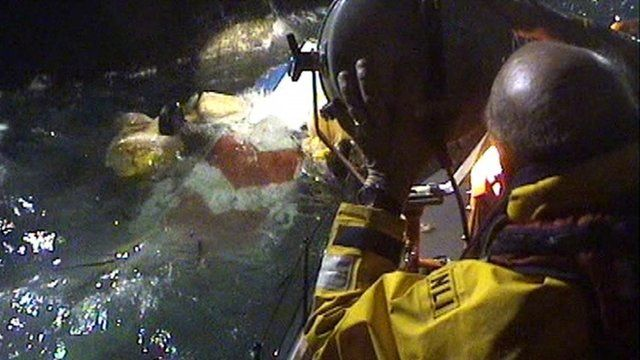 RNLI photo of the rescue effort