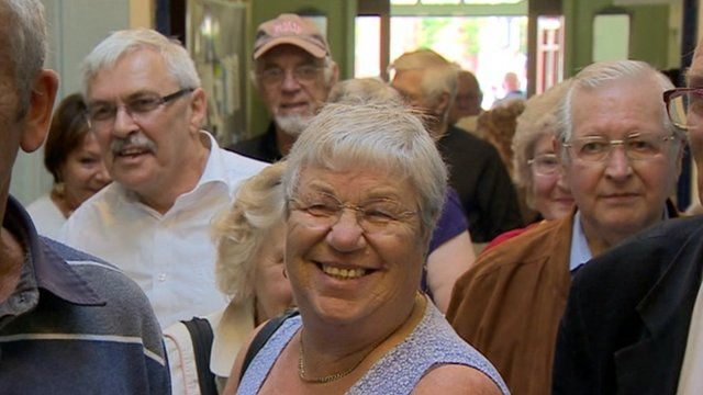 Visitors to Wednesbury Town Hall
