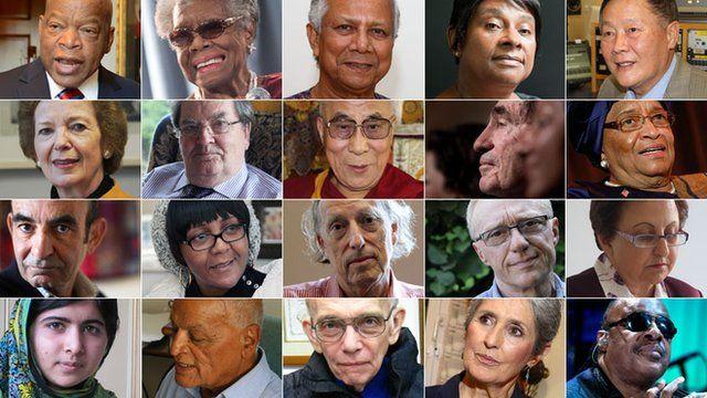 Nobel laureates and other distinguished people