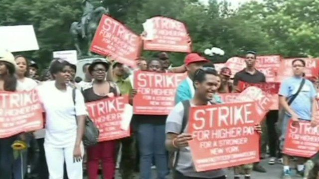 Striking workers