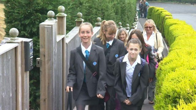 Pupils from The Swanage School