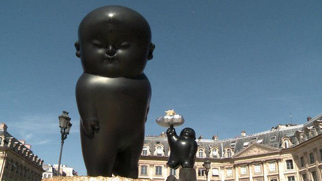 Li Chen's sculptures on display in Paris
