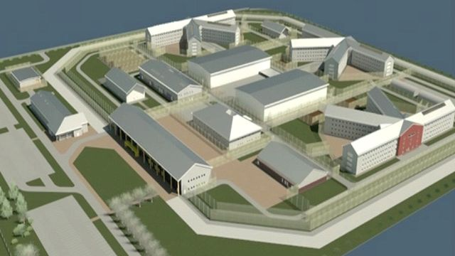 An artist's impression of a super-prison