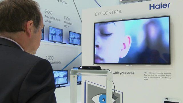 Eye-controlled TV