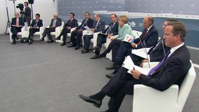 G20 leaders, amongst them David Cameron, Angela Merkel, Francois Hollande and Vladimir Putin