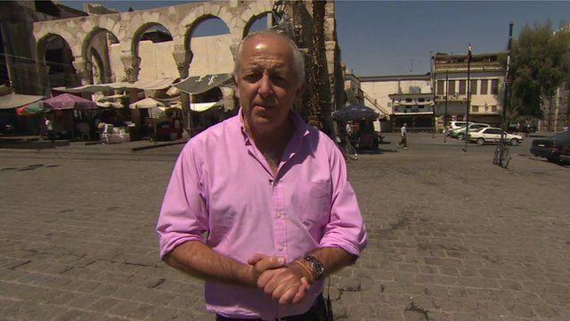 Jeremy Bowen in Damascus.