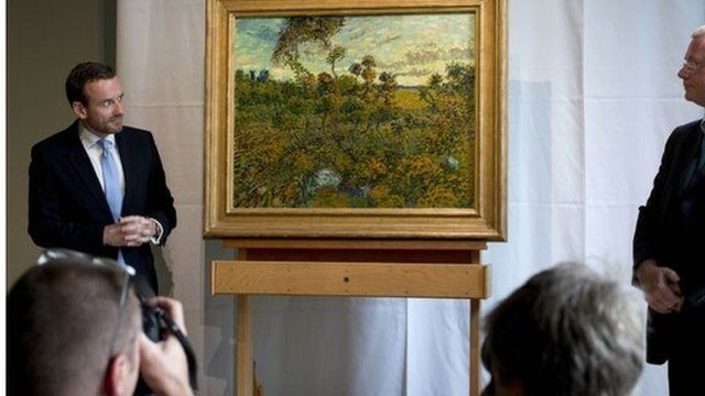 Van Gogh Museum director Axel Ruger with the new painting