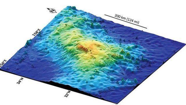 Map of the Tamu Massif