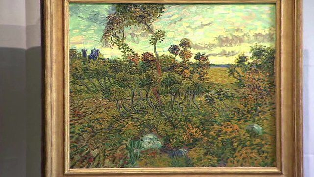 Vincent Van Gogh's Sunset at Montmajour.