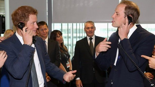 Prince Harry and Prince William try stockbroking
