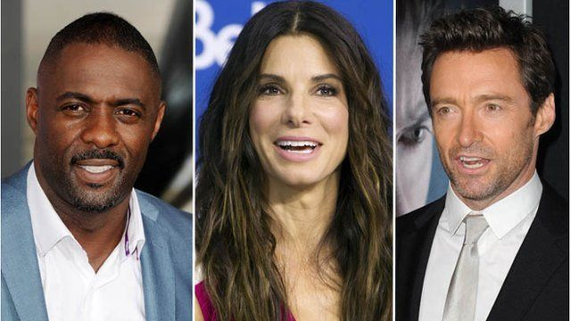 Idris Elba, Sandra Bullock and Hugh Jackman